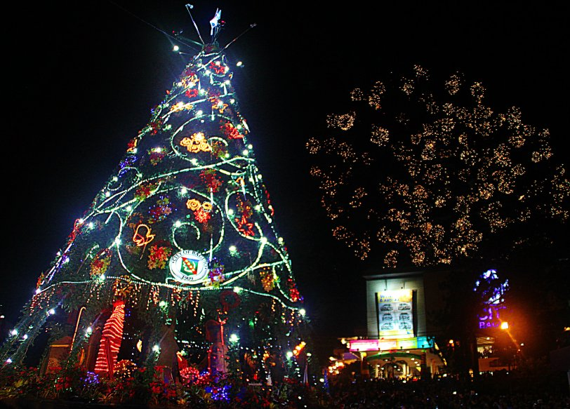 Giant Christmas trees lights city centers, town halls, parks, malls and homes all over the country every Christmas Season